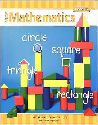 Kindergarten MCP Mathematics Level K Math Modern Curriculum Press Homeschool Mcp Math Level