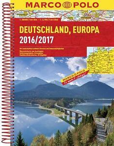 MARCO POLO Reiseatlas Deutschland 2016/2017 1:300 000, Europa 1:4 500 000 (MARCO