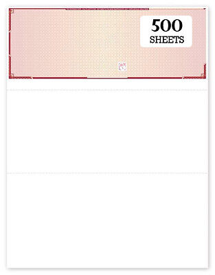 Top Blank High Security Checks with visible fibers 500 sheets - Maroon Prismatic - High Security Checks