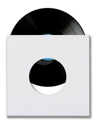 """500 45 RPM 7"""" Record Inner Sleeves With Hole Heavy Weight 20# White Paper Acid"""