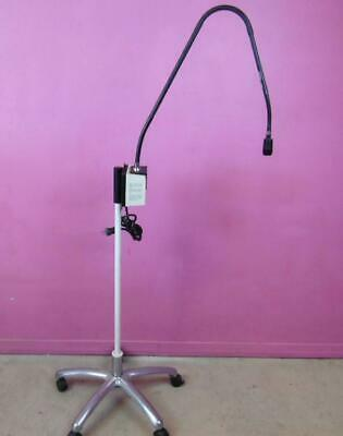 Welch Allyn Mobile 48300 Fiberoptic Exam Flexible Light Pipe Floor Lamp Stand