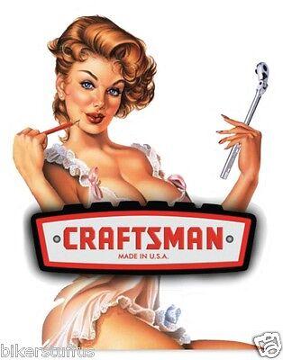 CRAFTSMAN TOOLS BEAUTIFUL LADY BUMPER STICKER LAPTOP STICKER HARD HAT STICKER