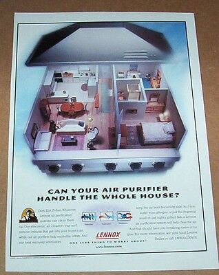2000 copy ad recto - LENNOX heating Air Purification system Crop Advertising