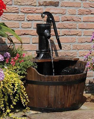 Gartenbrunnen / Springbrunnen Ubbink AcquaArte Newcastle Holz