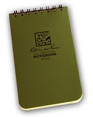3 X 5 Tactical Weatherproof Pocket Notebook Od Green 80-0335