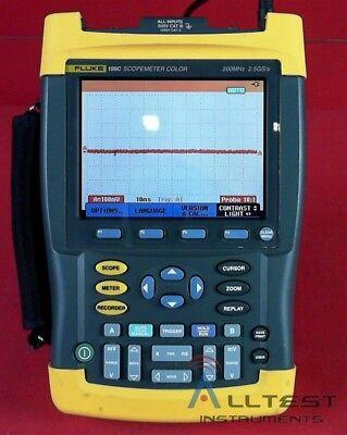 Fluke 199c 200mhz 2ch 2.5gsas Scopemeter