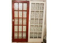 Solid wooden glazed sliding doors