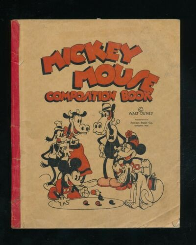 Disneyana-Books-Mickey Mouse Composition Book-1930s ,MM,Goofy,Minnie,Pluto cover