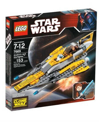 Lego Star Wars Anakin's Jedi Starfighter (7669) (Incomplete) READ DESCRIPTION