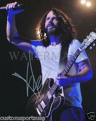 Reprint   Chris Cornell Soundgarden Rare Signed  8 X 10 Glossy Photo Poster Rp