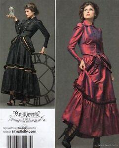 Simplicity-2207-UNCUT-PATTERN-14-20-Arkivestry-Victorian-Dress-Steampunk-Bustle