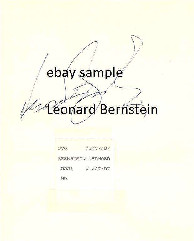 Leonard Bernstein Chuck Berry autographs