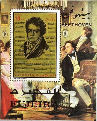 FUJEIRA 1971 Block 67 A 200th Geb. Bday Ludwig van Beethoven Composer Musik MNH