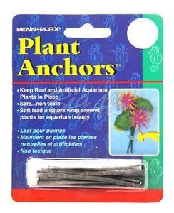 Details about Penn Plax Aquarium Plant Sinkers-Anchor s-Weights 12pk