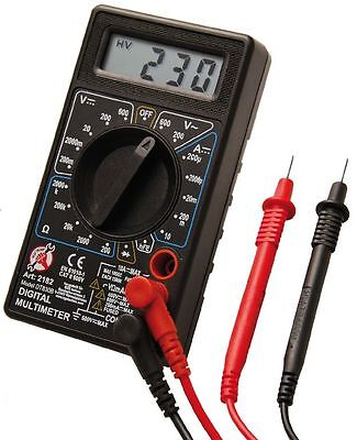 Kraftmann BGS Multimeter Digitalmultimeter inkl. Batterien und Messkabel