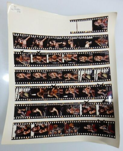 1984 BON JOVI SUPER ROCK TOUR JAPAN Contact print CONCERT PHOTO BY HIRO ITO  #13