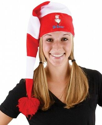 Dr. Seuss Stocking Hat Costume Accessory Adult Teen Dr. Seuss Christmas NEW (Dr Seuss Accessories)