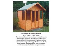 new summer house come in 4 Different Sizes the Durham