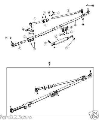 2003-2008 DODGE RAM STEERING LINKAGE DRAG LINK PITMAN ARM DAMPER UPGRADE MOPAR