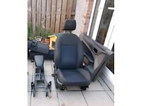 Ford Focus mk2 2004-2011 front driver's seat and rear seats (3 door)
