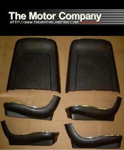 1968 Chevelle Cutlass GTO 442 Skylark Nova Black Seat Backs & Bottoms J-4200