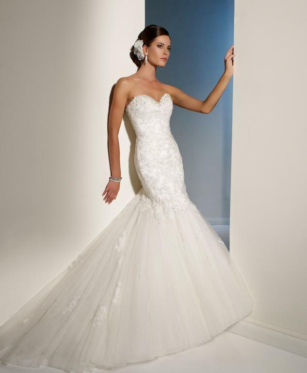 Fishtail Wedding Dress Derby : Wedding dress sophia tolli marielena fishtail white size ?