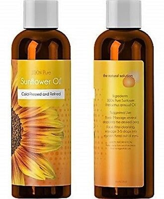 100% Pure Sunflower Seed Oil Anti-Aging Natural Skin Care and Hair Conditioner H