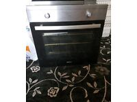 Electric oven with hob