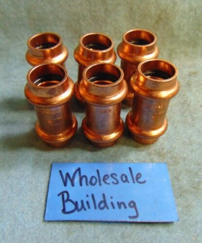 """NIBCO PROPRESS COPPER COUPLINGS WITH STOP, 1/2"""" 9001100PC EPDM O"""