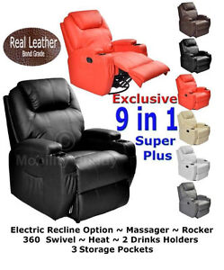 Real-Leather-Cinema-Massage-Rocking-Swivel-Nursing-Gaming-Recliner-Chair