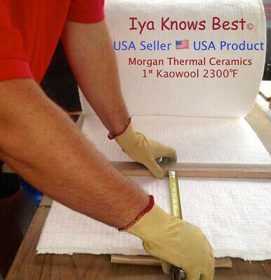 """Kaowool 1""""x12""""x24"""" Ceramic Fiber Insulation Blanket 8# Thermal Ceramics 2300F US"""