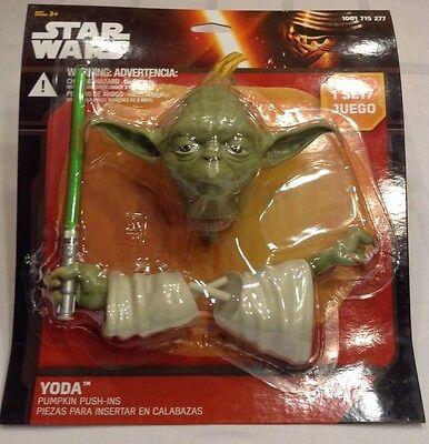 Yoda Pumpkin (New Star Wars Yoda Pumpkin Push In Halloween Decore Pumpkin Carve, You Will)