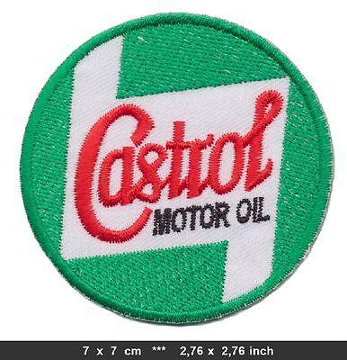 CASTROL Aufnäher Aufbügler Patch Vintage Racing Team Motorsport BLITZVERSAND