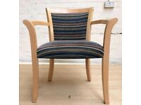 6x solid wood beech bespoke chairs