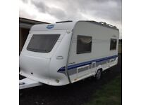 Hobby 450 uf deluxe easy 4 berth 2006 single wheeler with fixed bed