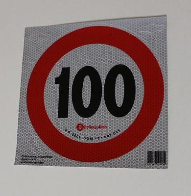 Geschwindigkeitsschild Italien 100km/h 200mm Geschwindigkeitsaufkleber Aufkleber