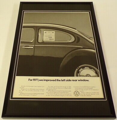 1971 Volkswagen VW 111 Sedan Framed 11x17 ORIGINAL Vintage Advertising Poster
