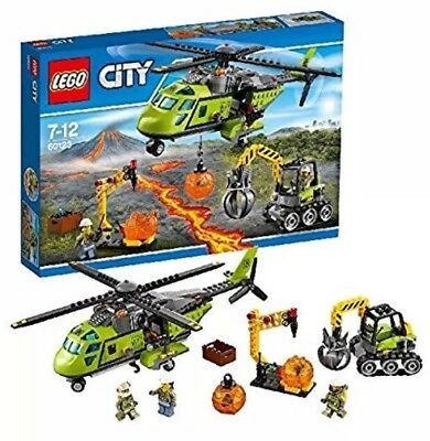 *BRAND NEW* Lego City Set 60123 Volcano Supply Helicopter RETIRED (City Supplies)