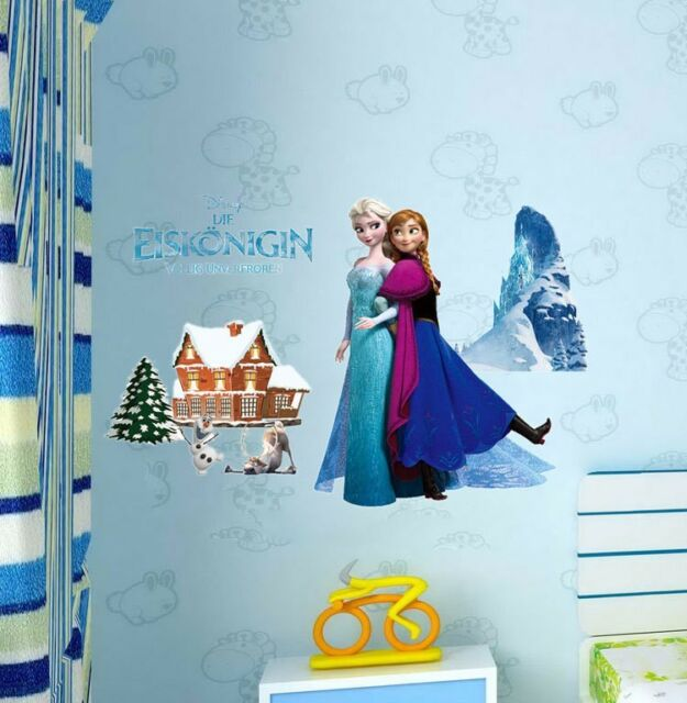 DISNEY FROZEN Elsa Anna Decal Removable Wall Stickers Home Decor Kids Art Mural