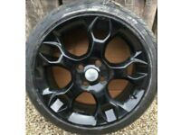 "GENUINE 17"" FORD FIESTA MK7 MK 8 ZETEC S SNOWFLAKE ALLOY WHEEL AND TYRE Black"
