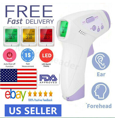 IR Infrared Digital Non-Contact Forehead Baby /Adult Body Surface Termometer US