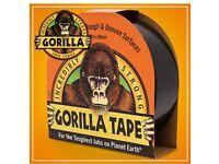 GORILLA TAPE ROLL. 32m. New. Black. £5