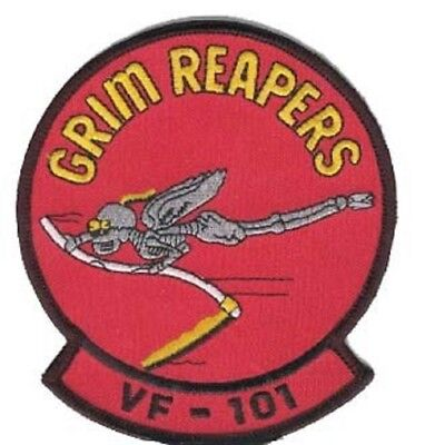USN NAVY VF-101 GRIM REAPERS  CREW  TOMCAT  F-14 MILITARY  PATCH