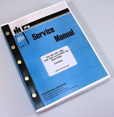 International 786 886 986 1086 1486 1586 Hydro 186 Tractor Service Repair Manual