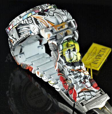 Invicta 52mm Bolt Zeus Multi Color HYDROPLATED GRAFFITI Chronograph SS Watch NEW