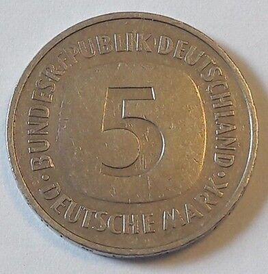 Coin Monnaie, République fédérale allemande, 5 Mark, 1975, Allemagne Duitsland G