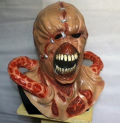 NEMESIS DELUXE LATEX MASK RESIDENT EVIL 3 ZOMBIE FANCY DRESS COSPLAY - Nemesis Mask Resident Evil