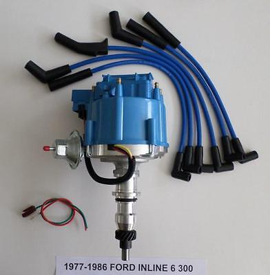Ford 6 Cylinder - FORD Inline 6 Straight 6 cylinder 1977-86 300 HEI Distributor & Spark Plug Wires