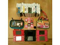 3x Nintendo DSi with games and accessories