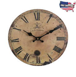 12-inch Vintage Wood Wall Clock - France Paris *Cafe des Marguerites* Country
